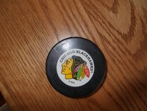 Blackhawks official puck in Elgin, Illinois