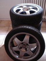 SUMMER TIRES ON RIMS in Ramstein, Germany