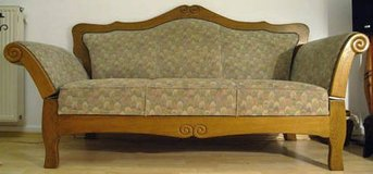 Restored Antique Couch w/Folding Armrests to Sleeper Couch in Ramstein, Germany